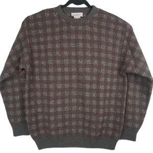 Ermenegildo Zegna Brown Gray Crewneck Sweater L